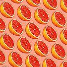 Grapefruit Pattern - Pink by Kelly  Gilleran