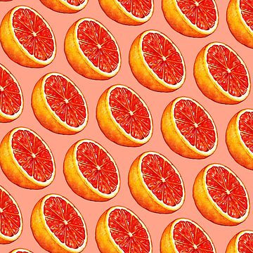 Grapefruit Pattern - Pink by KellyGilleran