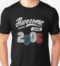Awesome Since June 2006 Shirt Vintage 12th Birthday Unisex T-Shirt