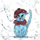 Lumsden Tartan Cat by Eliza Fayle