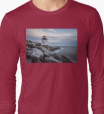 Castle Hill Lighthouse at Sunset Long Sleeve T-Shirt