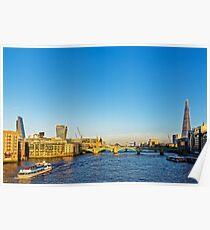 Thames Riverscape, London England Poster