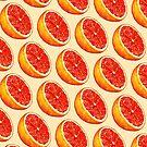Grapefruit Pattern - Cream by Kelly  Gilleran
