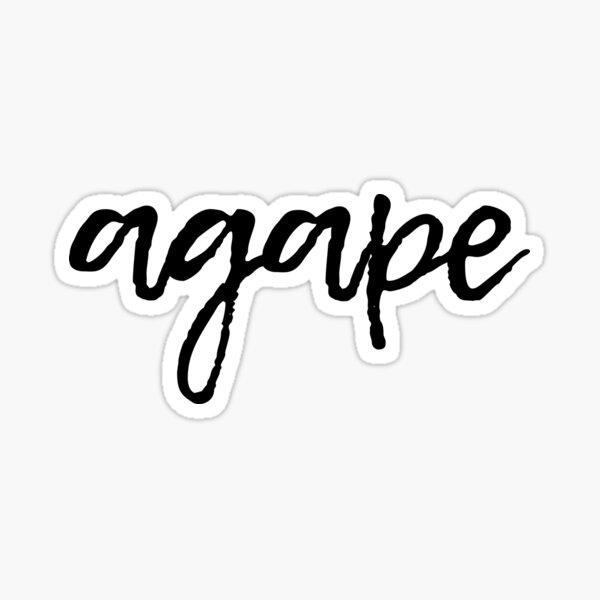 Ágape Pegatina