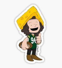 Cheesehead Haz Sticker