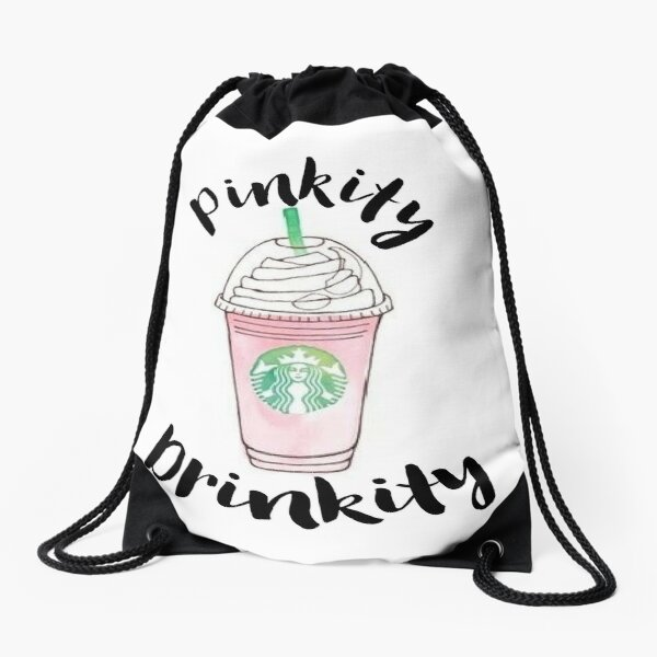Pinkity Drinkity Drawstring Bag