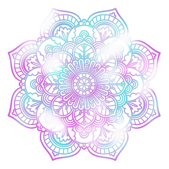 Quot Pastel Coloured Mandala Quot Poster By Qlobba Redbubble