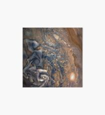 Swirling Clouds of Planet Jupiter Close Up from Juno Cam Art Board
