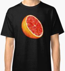 Grapefruit Pattern - Black Classic T-Shirt