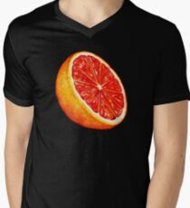 Grapefruit Pattern - Black Men's V-Neck T-Shirt