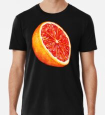 Grapefruit-Muster - Schwarz Premium T-Shirt