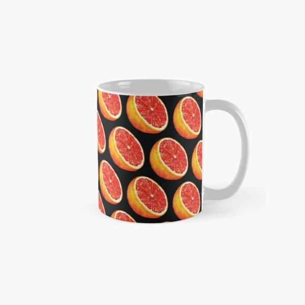 Grapefruit Pattern - Black Classic Mug