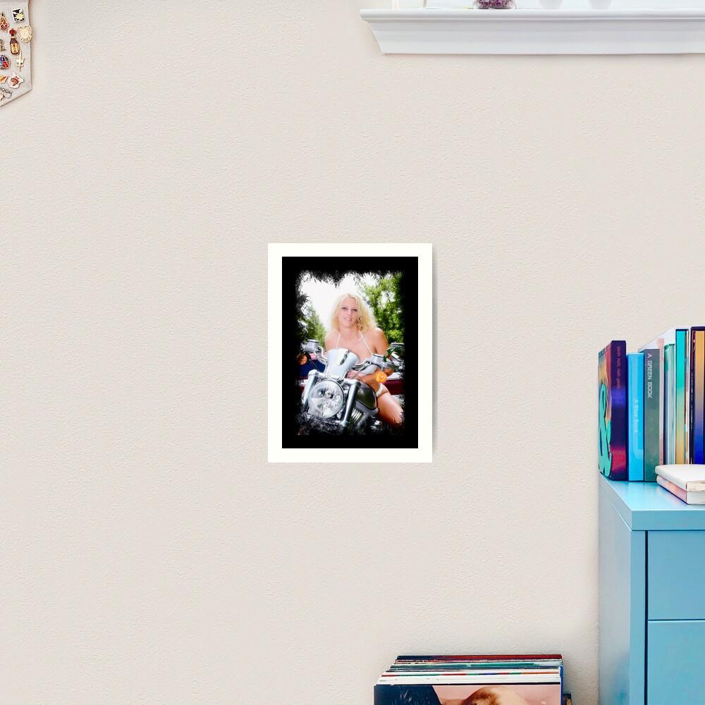 Bikes and Babes Art Print