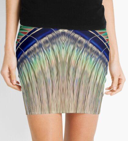 Converging Liquid Colour Mini Skirt