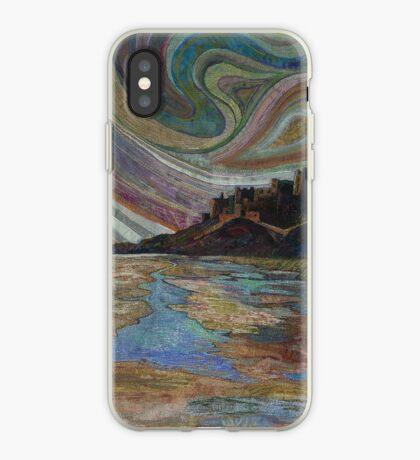 Banburgh Castle Embroidery - Textile Art iPhone Case