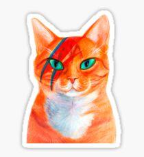 David Bowie - Cat Rebel Sticker