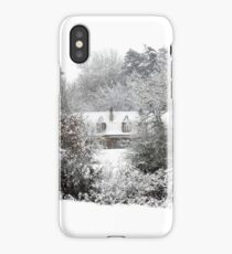 Farmhouse in snow iPhone Case/Skin