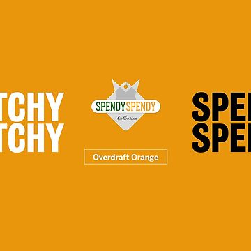 Spendy Spendy Mug - Overdraft Orange by DressageDaddy