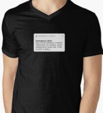 Ballistic Missile Threat Inbound To Hawaii Message T-Shirt Men's V-Neck T-Shirt