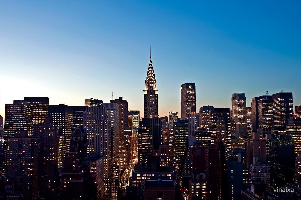 Manhattan Sunset by vinaixa