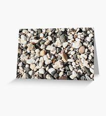 Seaside Beach Pebbles Pattern Greeting Card