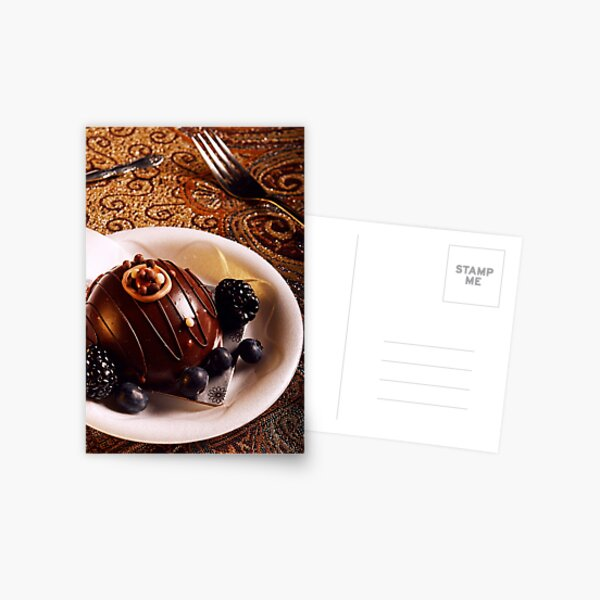Chocolate Dessert Fill Postcard