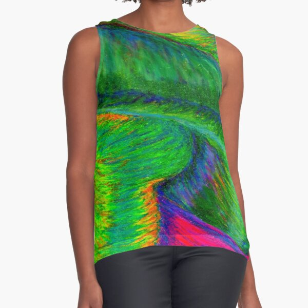 Zig When You Can Zag Sleeveless Top