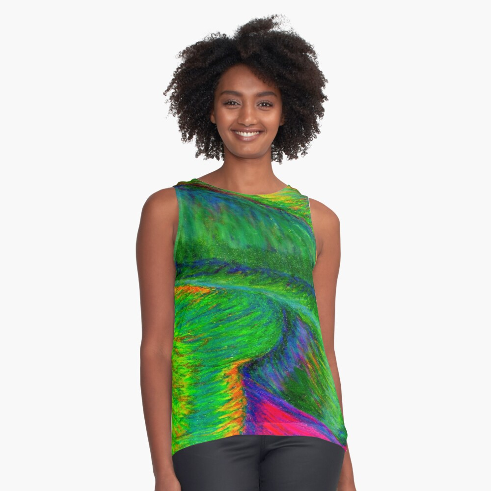Zig When You Can Zag Contrast Tank Front