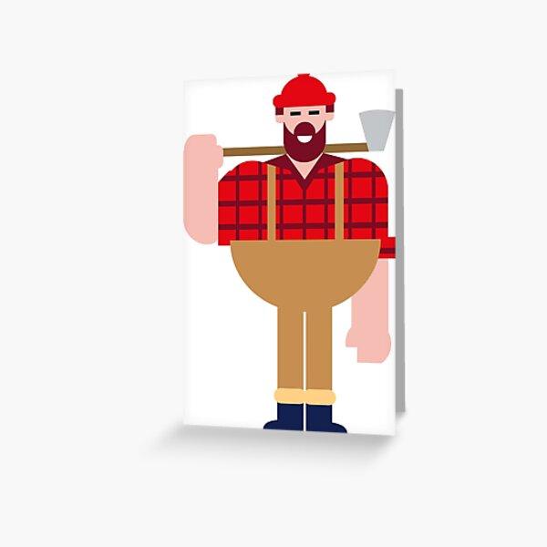 Lumberjack Greeting Card