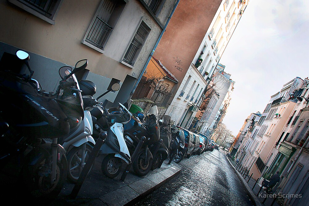 Street view Montmartre by Karen Scrimes