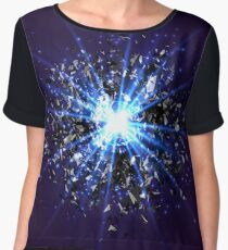 Blue star explosion Chiffon Top