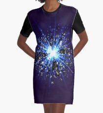 Blue star explosion Graphic T-Shirt Dress