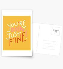 You're doin' fine! Postcards