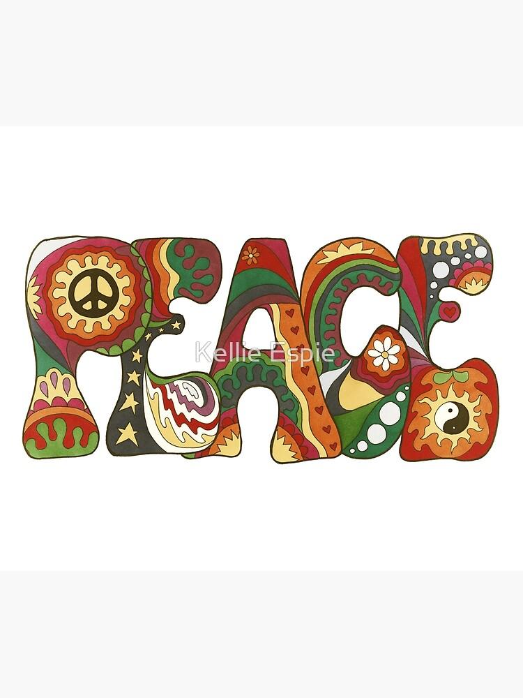 Vintage Psychedelic Peace by kelkel66