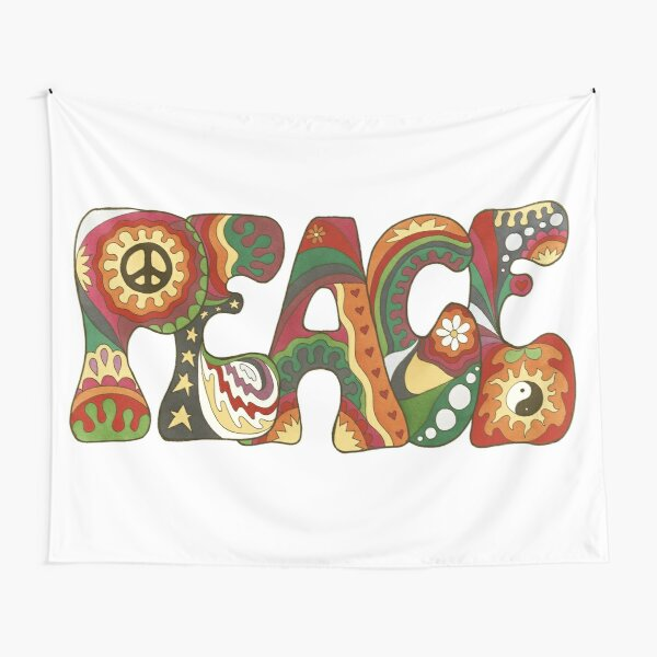 Vintage Psychedelic Peace Tapestry