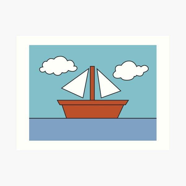 Simpsons Boat Art Print