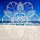 White mandala flower on Bondi Beach  by faithie