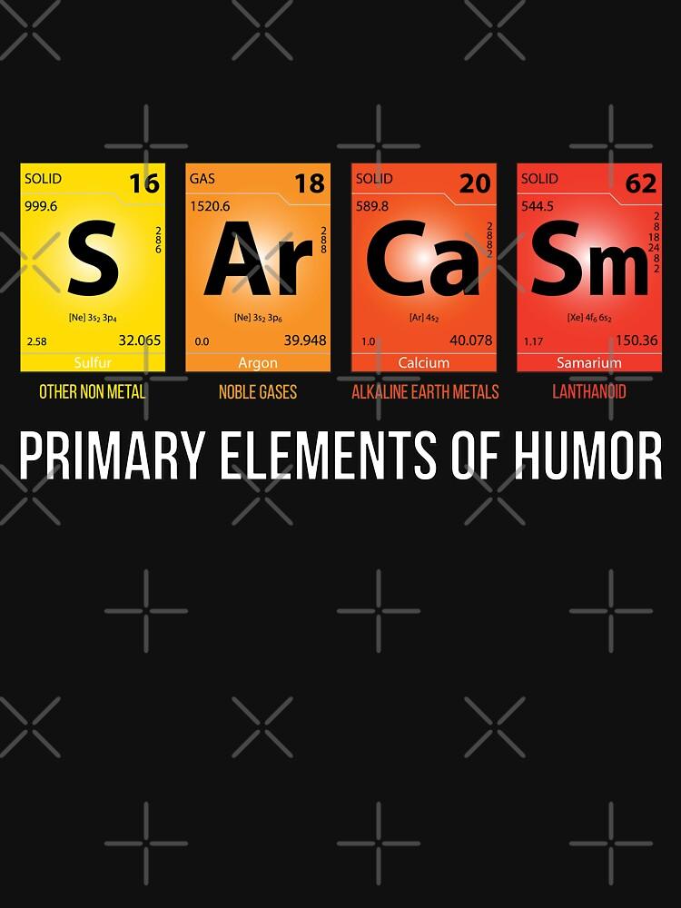 Sarkasmus Mendelejew Humor Periodische Elemente von Grampus