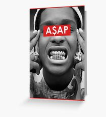 Rap Greats - A$AP Greeting Card