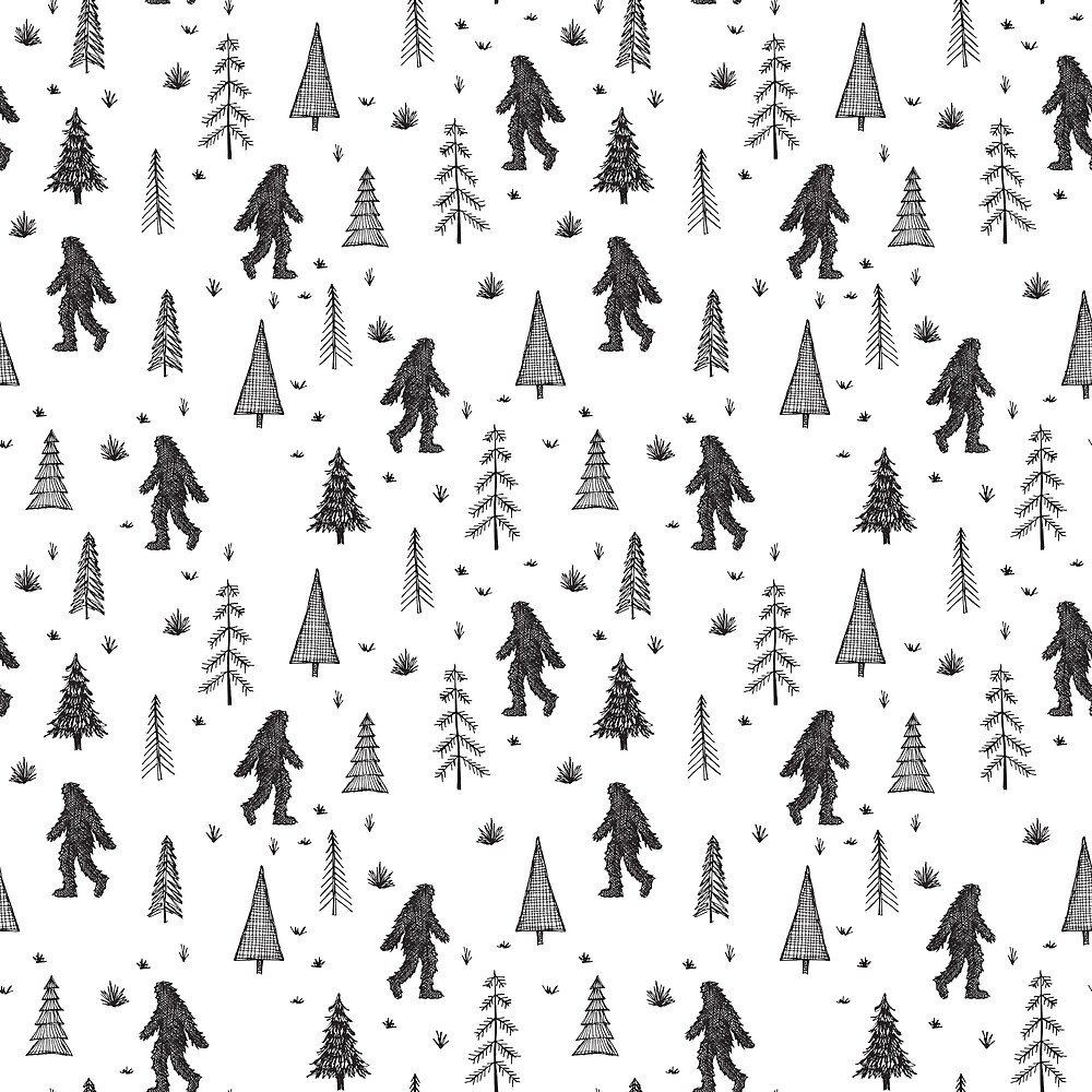 trees + yeti pattern by Stacey Oldham