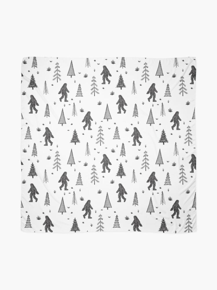Alternate view of trees + yeti pattern Scarf