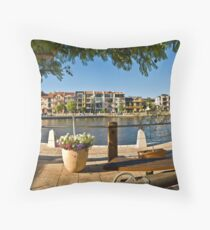 Claisebrook Cove East Perth Throw Pillow