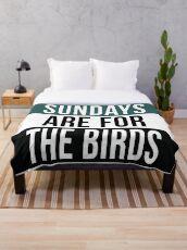 Sonntage sind für die Vögel Fleecedecke