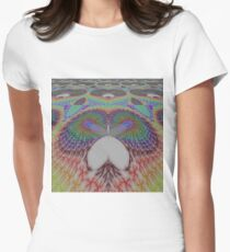 Abstract owl perspective  Women's Fitted T-Shirt