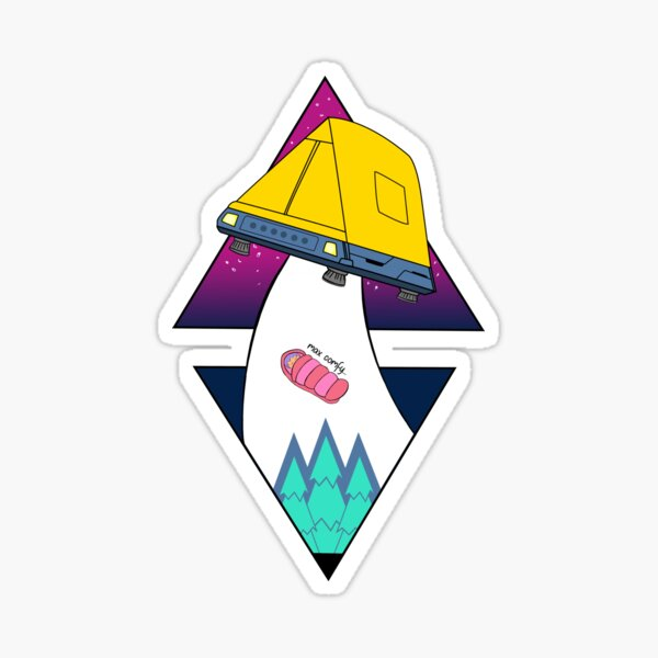 Rin To Nadeshiko Neteru Yuru Camp//Laid-Back Camp Sticker Vinyl Decal Wall Laptop Window Car Bumper Sticker 5