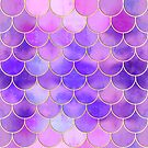 Ultra Violet & Gold Mermaid Scale Pattern by tanyadraws