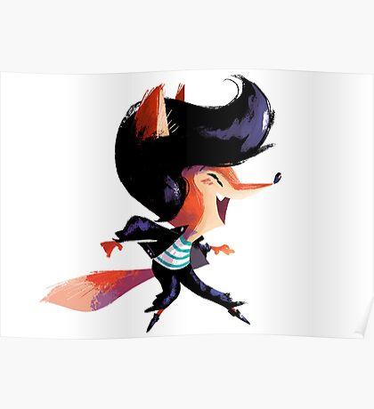 Dancing Fox Poster