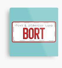 Bort License Plate Metal Print