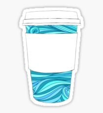 Beachy Decorated Coffee Cup Sticker