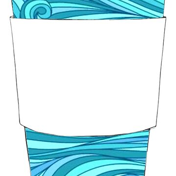 Beachy Decorated Coffee Cup by cea010